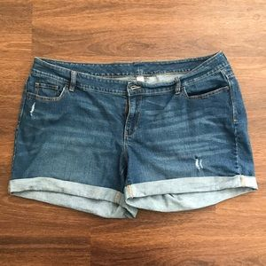 Old Navy plus size denim shorts
